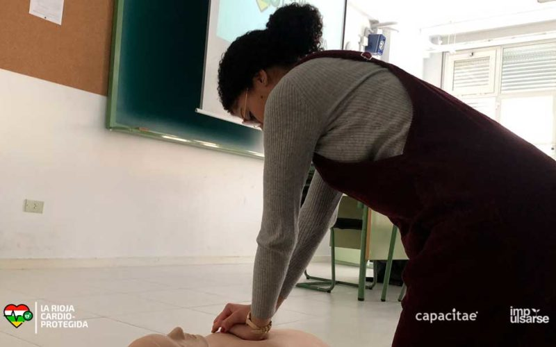 Taller de RCP y Primeros Auxilios en el IES Valle del Cidacos de Calahorra